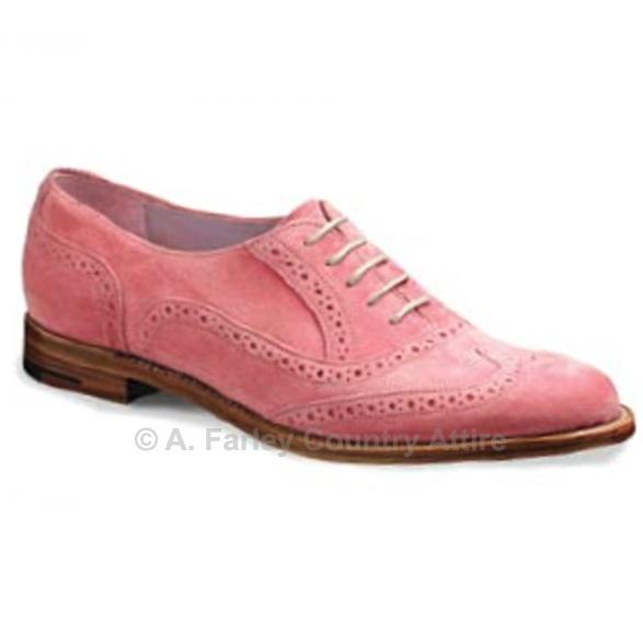 Barker Ladies Shoes – Freya – Pink Suede – Brogue http://www.afarleycountryattire.co.uk/shop/barker-ladies-shoes-freya-pink-suede-brogue/ #barkershoes #brogues