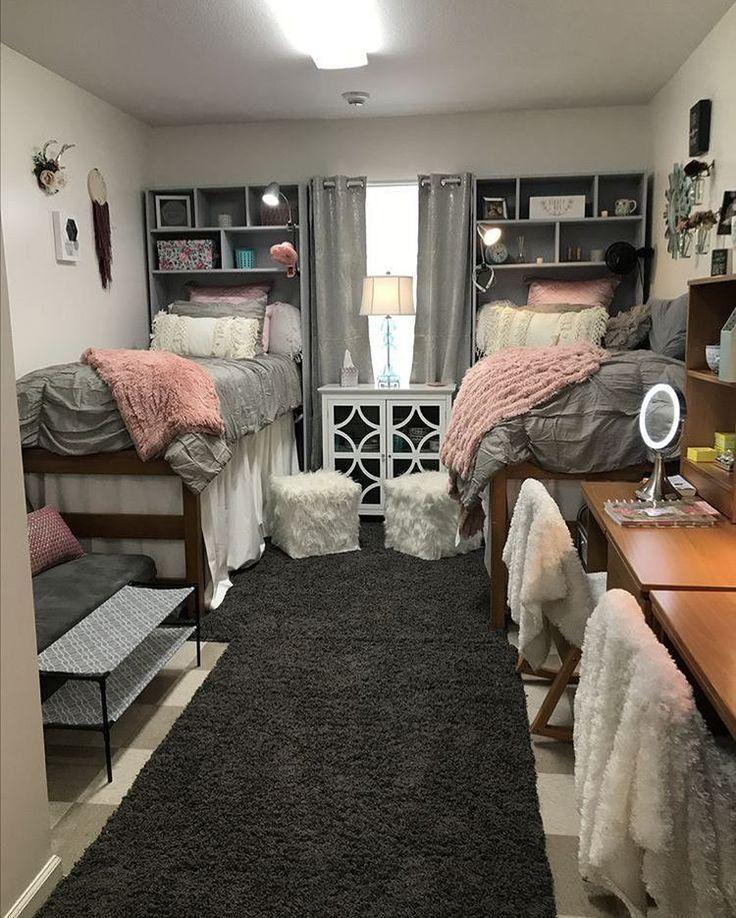 Cute matching dorm sets  College dorm room decor, College bedroom