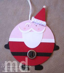 Santa Holiday Tags by Monika Davis Stampin' Up! - with a tutorial