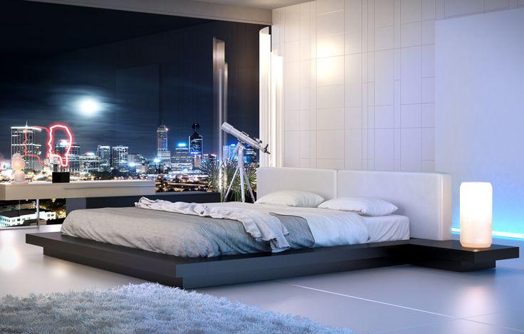 Modloft Modern Furniture Official Store: HB39A-CK Worth Cal King Bed - $1699