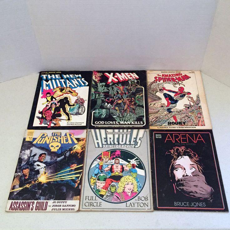 Marvel Graphic Novels Set X-Men Punisher Spider-Man New Mutants Hercules Arena