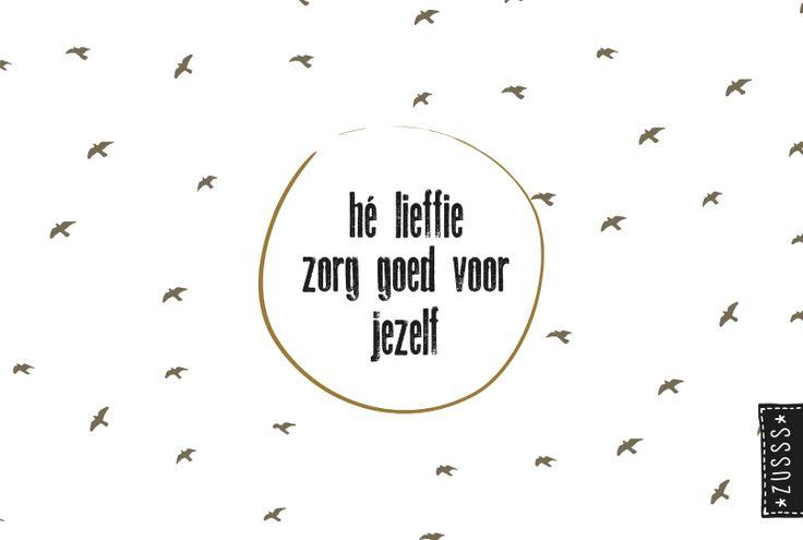 Zusss l Hé lieffie, zorg goed voor jezelf l http://www.zusss.nl/product/zusss-familie-planner/