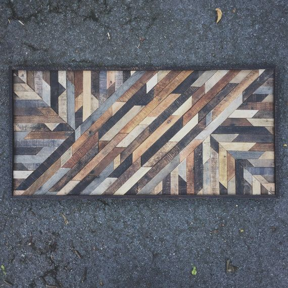 Etsy の Rustic Art Design Made from Reclaimed Wood by crtcreative