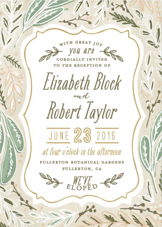 elopement announcement wording private ceremony announcement second