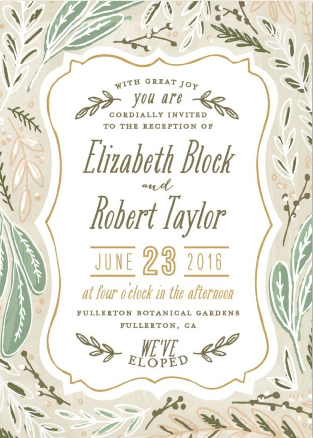 35 best wedding invitations images on Pinterest - invitation wording for elopement party