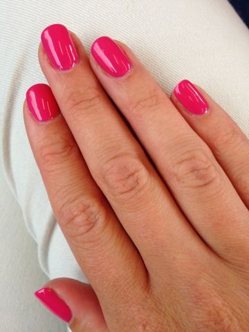mani monday cnd shellac pink bikini n gel pinterest. Black Bedroom Furniture Sets. Home Design Ideas