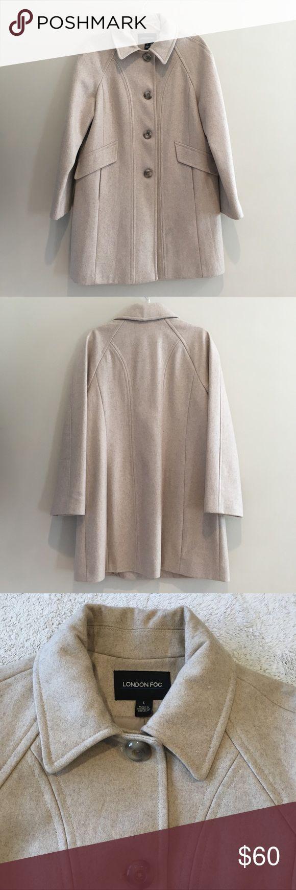 London Fog Wool Coat Size Large London Fog Wool Coat Size