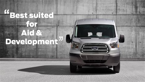 """Aid & Development vehicle Maximum towing capacity of 7500lbs and maximum payload of 2090kg, the available high roof option of the transit has the best in class interior cargo height of 81.5"""", you would be hard pressed to leave this ideal Aid & Development vehicle out of your fleet."""