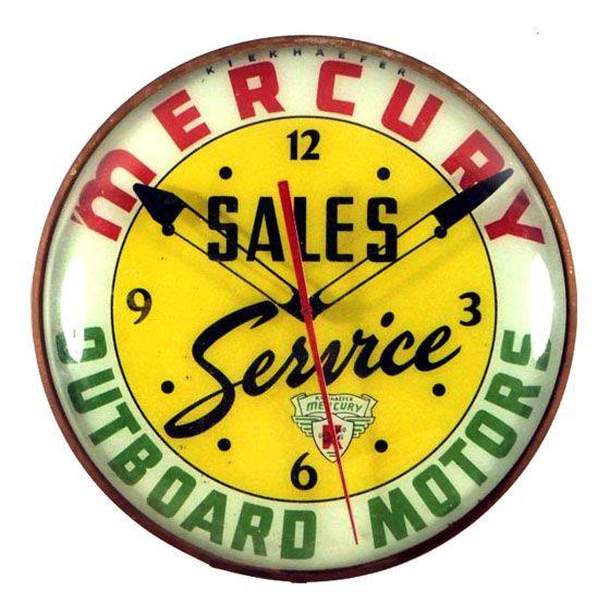 Mercury Outboard Motors Clock
