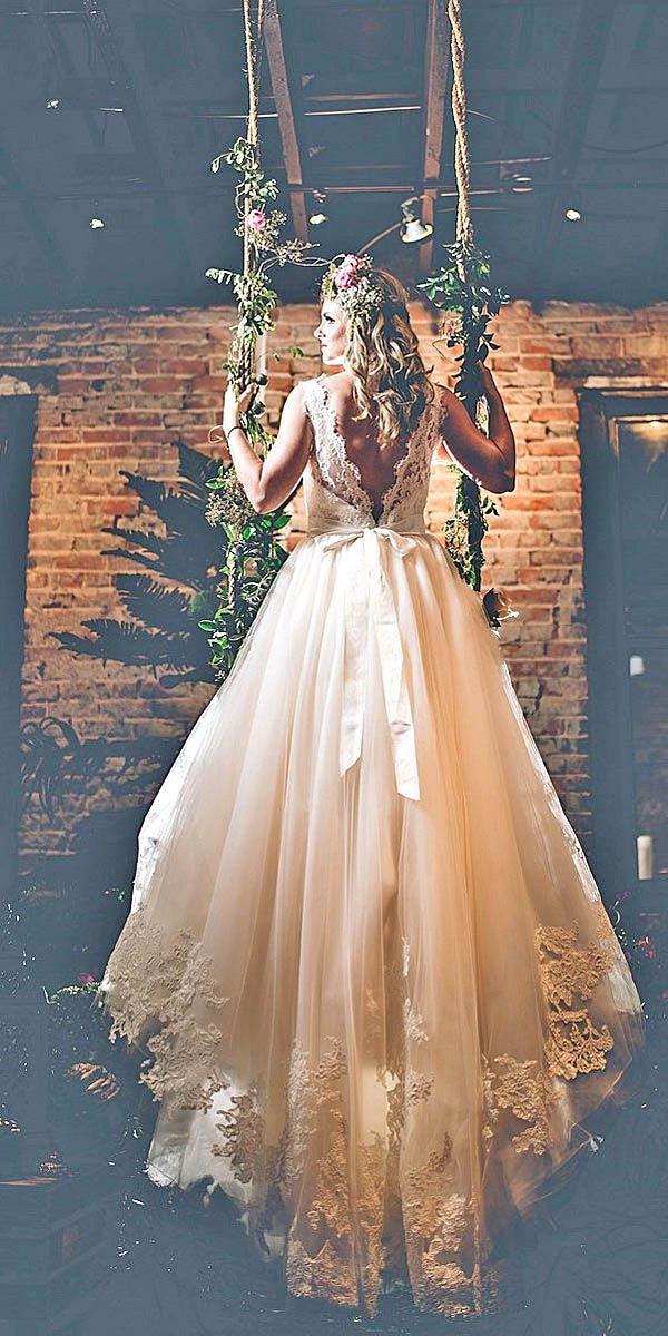 Simple Wedding Dresses For Elegant Brides ❤ See more: http://www.weddingforward.com/simple-wedding-dresses/ #weddings
