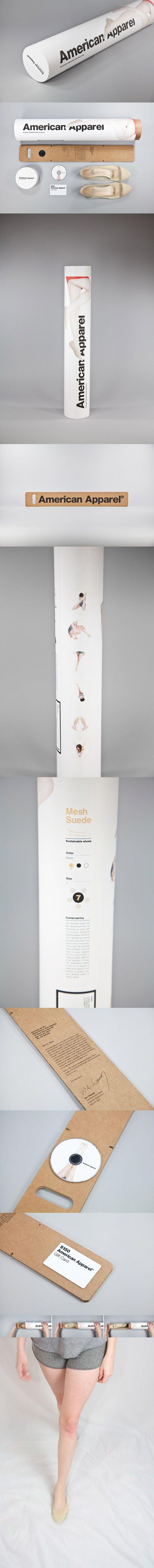 American Apparel Sustainable Shoe #packaging PD