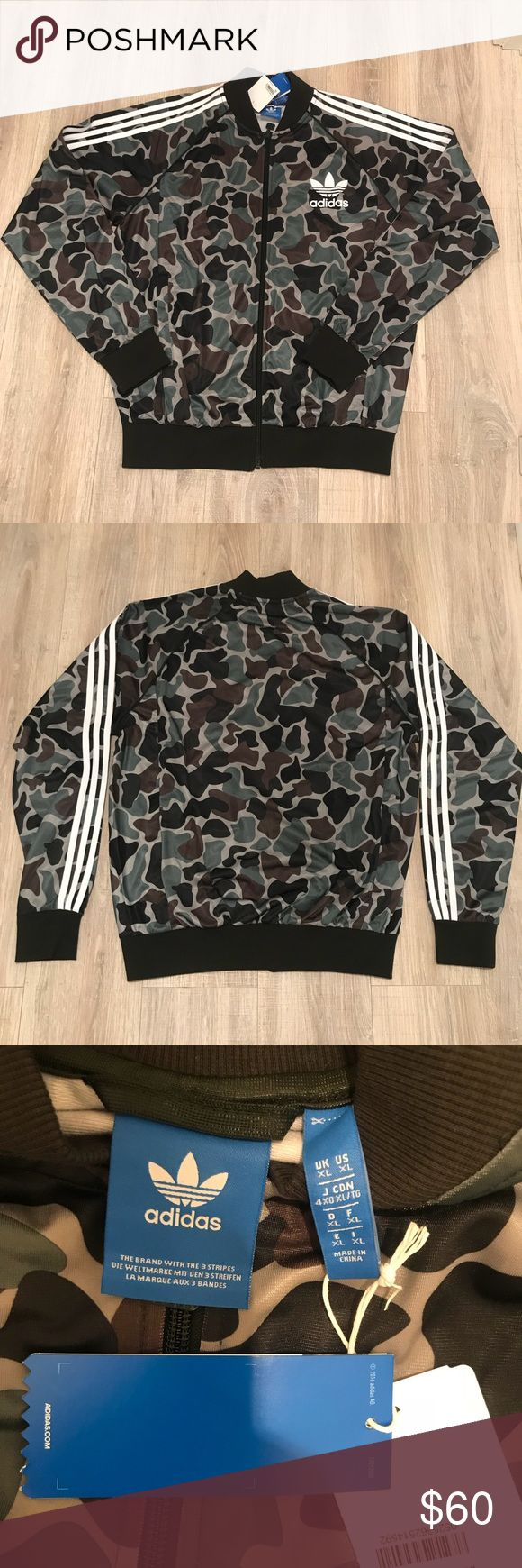 BNWT ADIDAS CAMOUFLAGE TRACK JACKET Men's extra large (pictured on a M/L). Brand new. adidas Jackets & Coats