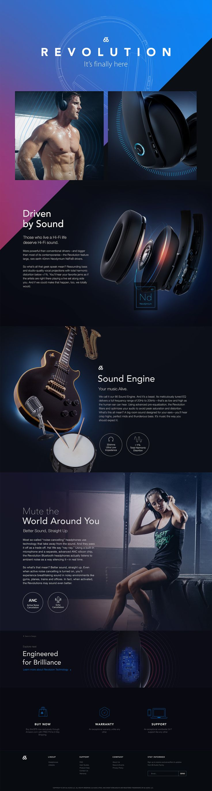 66AUDIO Site & Revolution Product Page Design on Behance