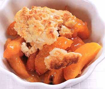 Apricot Cobbler Recipe at Epicurious.com. Really easy to put together and yummy! Fantastic apricot flavor and doesn't make a ton so no worrying about using up lots of leftovers.