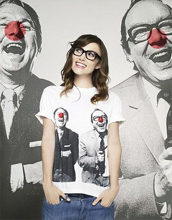 Morecambe and Wise T-shirt for @comicrelief - Eric & Ernie bring back fond memories of my youth and buying it was for char-i-tee! No longer available.: Keiraknightley, Celebrity, Girls Crushes, Comic Relief, Stella Mccartney, Keira Knightley, Comicrelief, Pretty Hair, Keira Knights