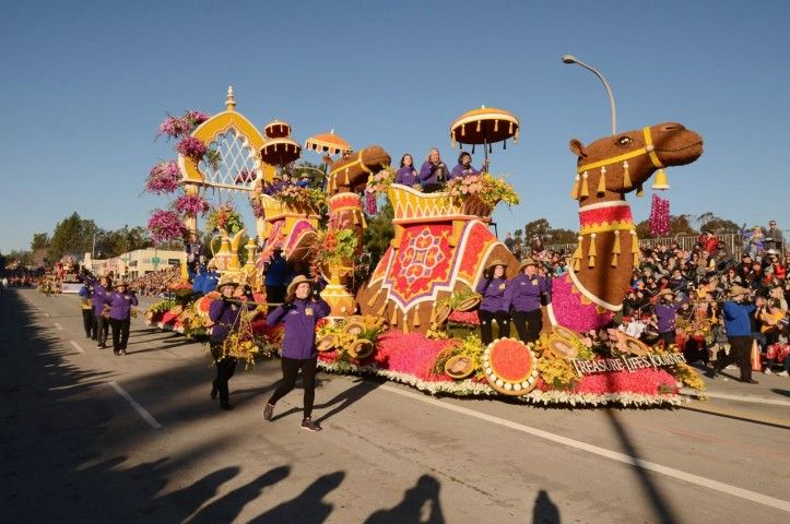 The 2016 Donate Life Float, Treasure Life's Journey, as it makes its way down Colorado Blvd. in Pasadena, Calif. on New Year's Day.