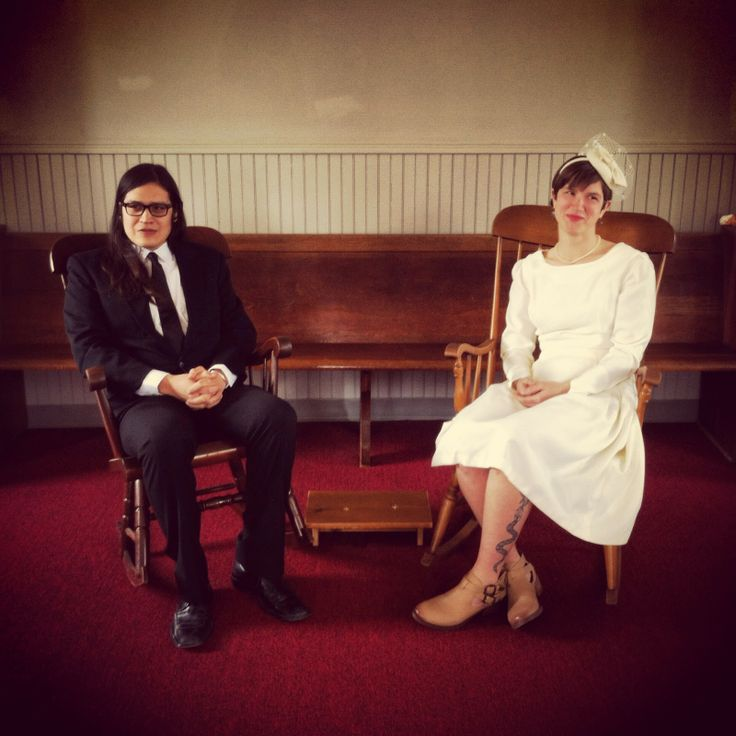 Quaker meeting house.  Rocking Chair Wedding