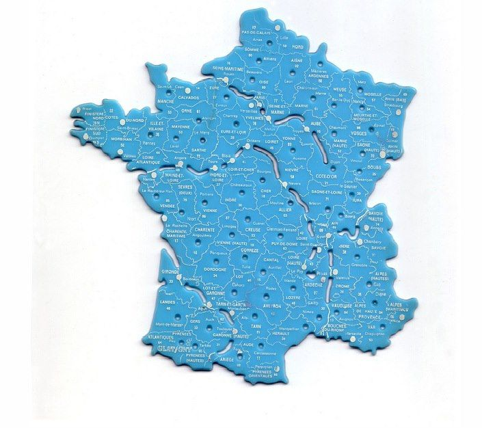 carte de France en plastique