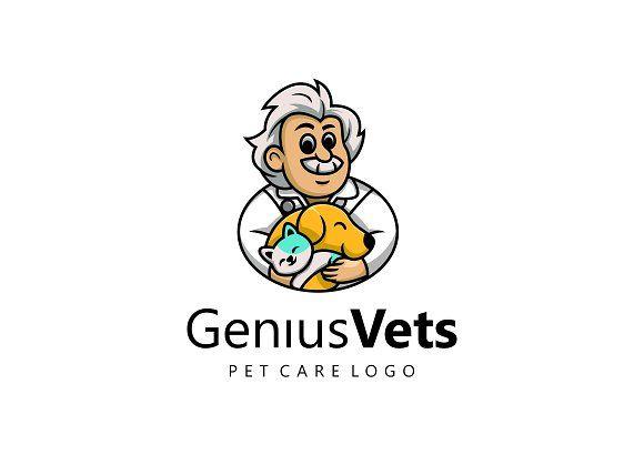Genius Vets Logo For Pet Care With Images Pet Care Logo Pet