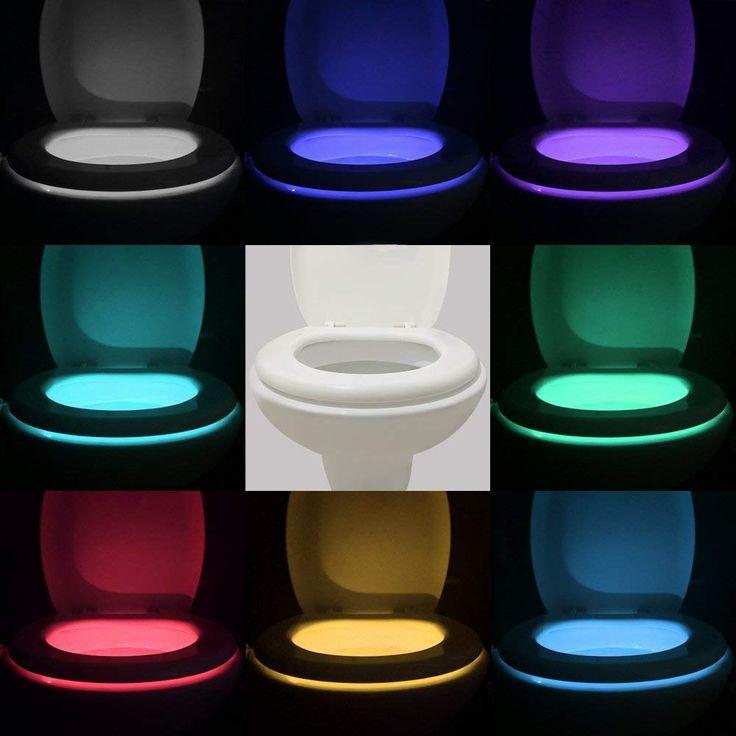 It S An Inexpensive Smart Night Light For Your Toilet Vintar 16 Color Motion Sensor Led Toil Bathroom Night Light Sensor Night Lights Toilet Bowl Light