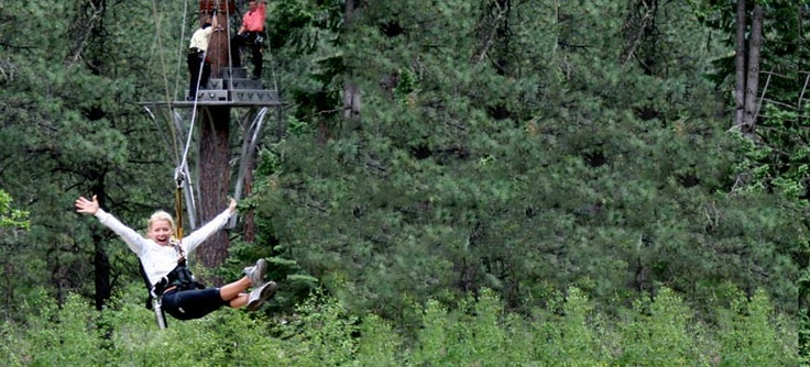 soaring treetop adventures on our zip line course in durango colorado from soaring canopy tours