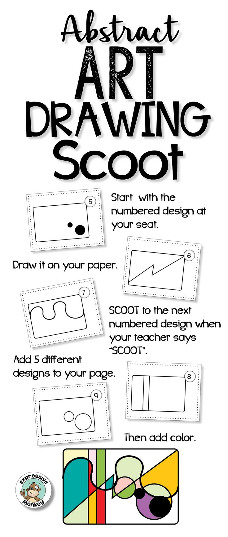 This fun game is a great way to get students drawing abstract designs.