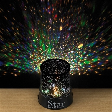 Star Projector. Features star lights and colour changing LED lights.