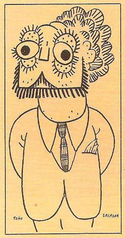 Oliverio Girondo por Toño Salazar, publicado en Argentina Libre, 1940.