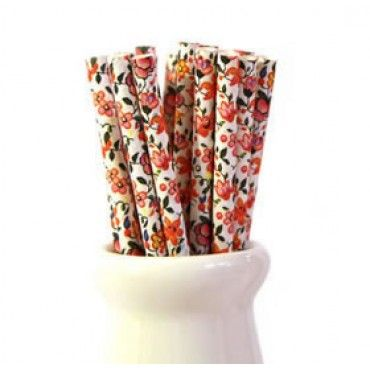 Paper Straws Pretty Floral - Party Shop :: Big Dreams
