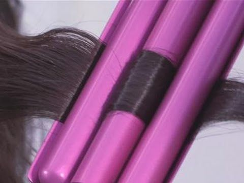 How To Use A 3 Barrel Curling Iron - YouTube