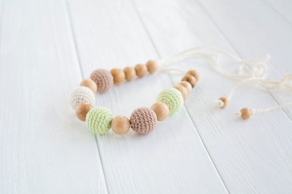 Crochet Teething Necklace for Mom / Breastfeeding by MyFirstToy