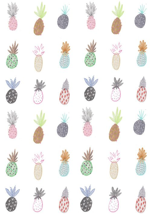pineapple print: fruit repetition idea.