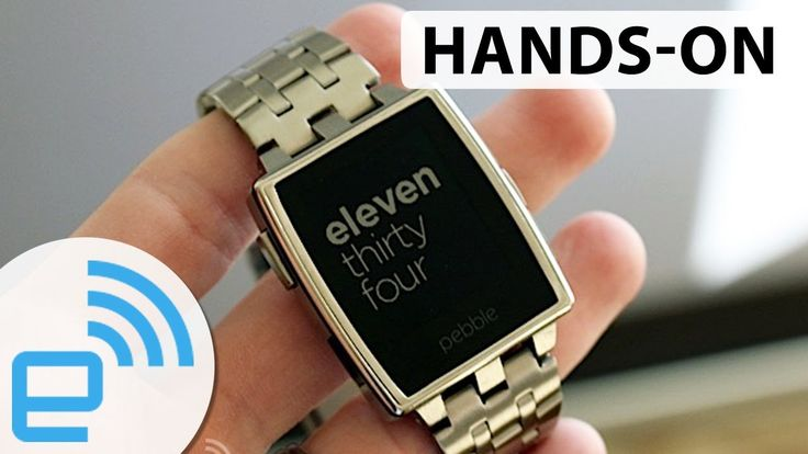 Pebble Steel Smartwatch hands-on at CES 2014 | Engadget