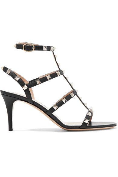 Valentino - Rockstud Leather Sandals - Black - IT