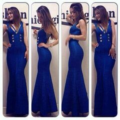Godness Maxi Fabulous Bandage Dress!!! You want one for yourself?? Come on!! 3 colors available,blue,black and greay!!! http://v.yupoo.com/photos/ocsbandage/albums/14144535/