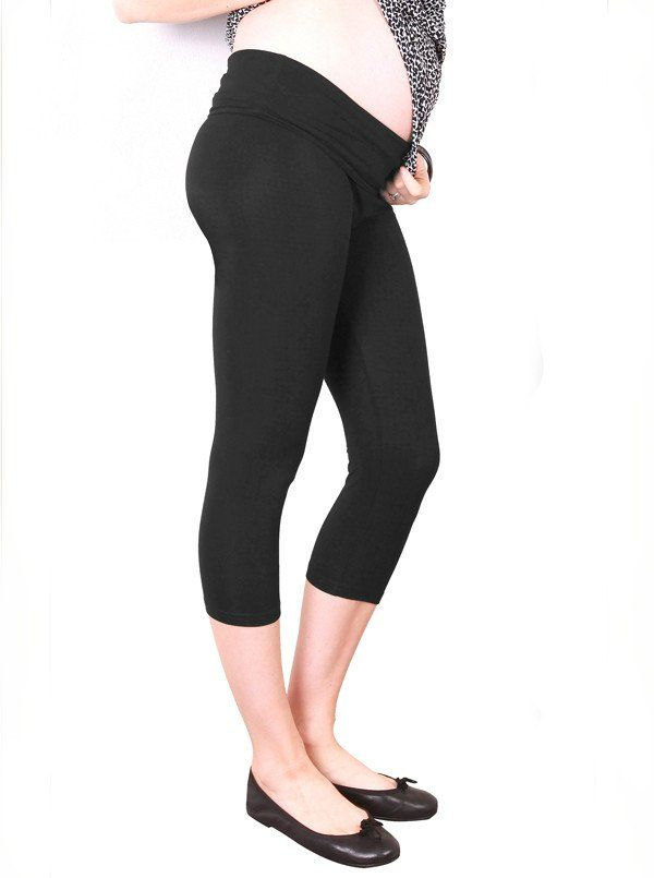 High Waist Adjustable Band 3/4 Length Legging in Black, $24.95. These are super soft stretchy legging are cut at a fashionable capri length so you can channel you inner Audrey Hepburn!