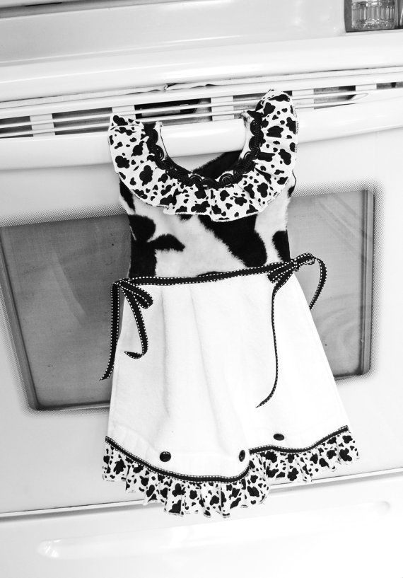Hey, I found this really awesome Etsy listing at https://www.etsy.com/listing/109766979/cow-print-dish-towel-oven-door-dress-in