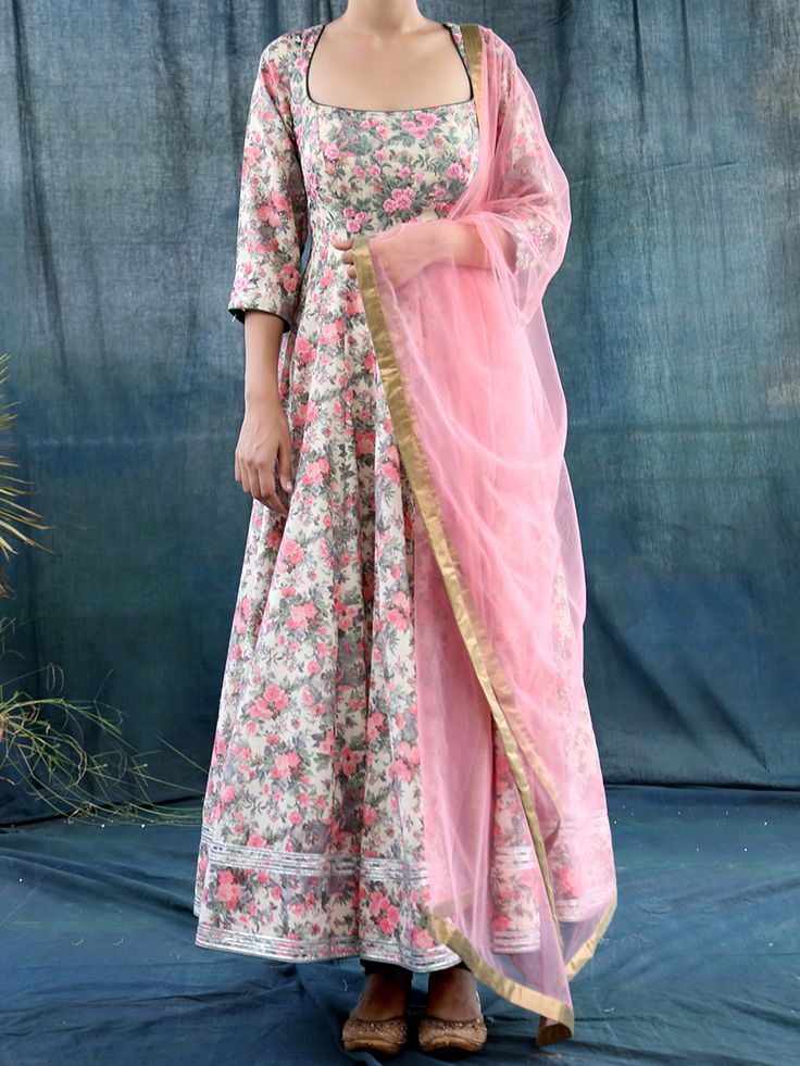 Multi Coloured Linen Anarkali With Machine And Sequin Hand Embroidery #Dupatta #ethnicstyle #style #elegant #dress #suit #indiandesigner #ethnic #accessories #partywear #celebration #festive #dress #couture #beautiful #embroidered #fashion #clothing #silk #ethnic #indiandesigner #stylist #fashionblogger #trendy #follow #stepintostyle Shop Now: http://bit.ly/22YN11X