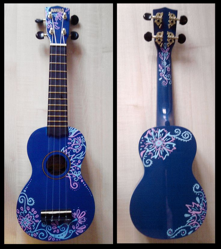 Decorated Ukulele by ~sivvus on deviantART   # Pin++ for Pinterest #
