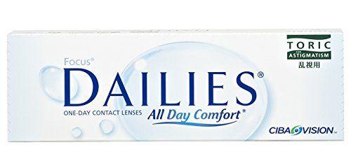 Focus Dailies Toric Torische Tageslinsen weich, 30 St�ck / BC 8,6 mm / DIA 14,2 mm / CYL -0,75 / ACHSE 20 / -1,00 Dioptrien