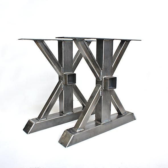 Steel Table Legs Trestle Diy Table Legs Steel Table Legs Steel Table Trestle Table Legs