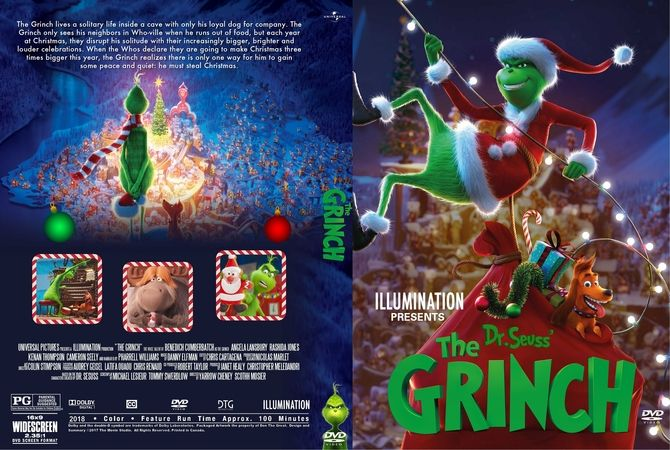 the grinch 2018 dvd custom cover  dvd cover design