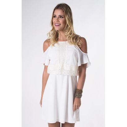 Compre Vestido Tecido Liso Mercatto Off White na Zattini a nova loja de moda online da Netshoes. Encontre Sapatos, Sandálias, Bolsas e Acessórios. Clique e Confira!