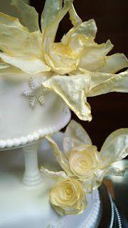 Torty ciasta i ciasteczka Joli: Ślubny z kwiatami