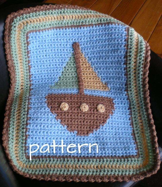 Sailboat Knitting Pattern Baby Blanket : 17 Best images about Crochet appliques on Pinterest Free ...
