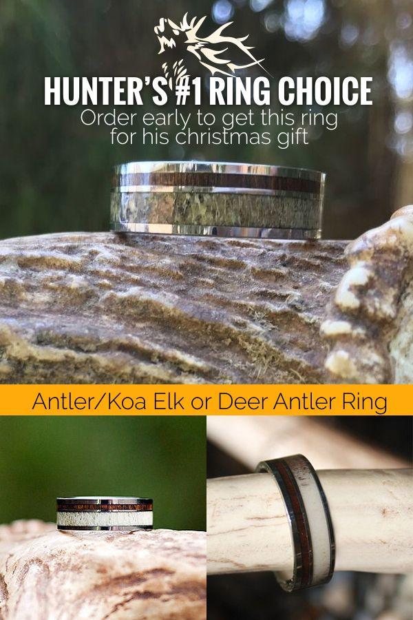 Elk Deer Antler Rings. Hunter's number #1 choice