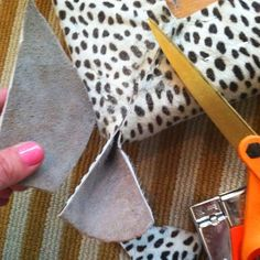 How to Upholster Bench Corners, pull tight for all sides, staple and trim as such before folding and final staples
