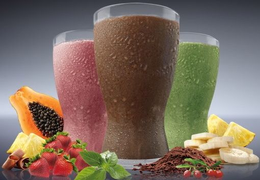 Shakeology Knockoff    2 servings Vanilla Whey Protein powder  1 serving flax seed  1 serving wheat grass powder  1 can blueberry yogurt  1/2 cup ice  1/2 cup skim milk    Blend until smooth and enjoy!