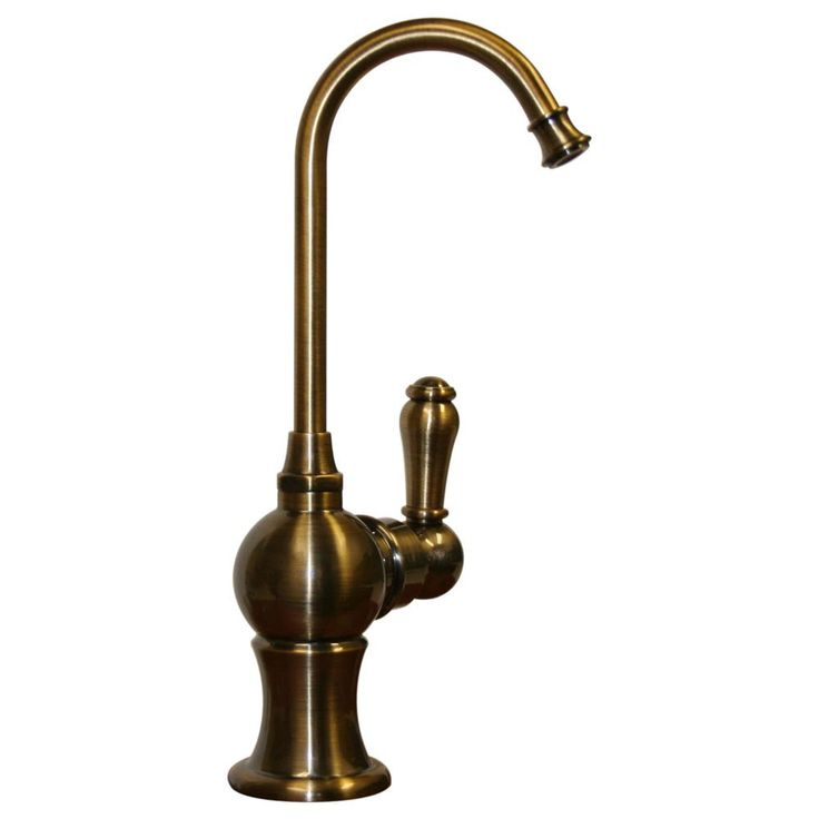 Point of use drinking water rustic faucet with gooseneck spout