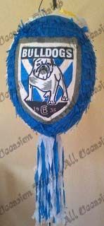 NRL Cantebury Bulldogs Pinata for a Rugby League Party http://alloccasionpinatas.webs.com/apps/photos/photo?photoid=187864176